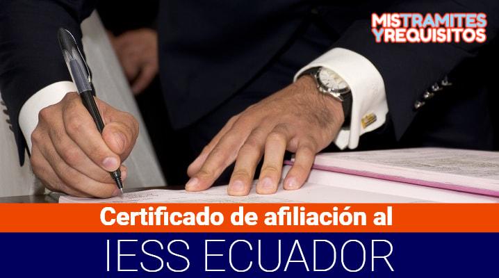 Certificado de afiliación al IESS
