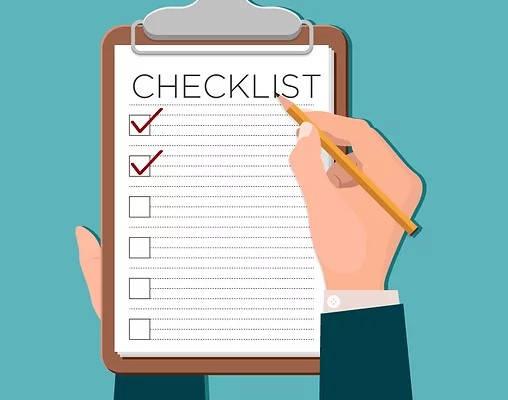 Certificado de no afectación Ministerio del Ambiente checklist