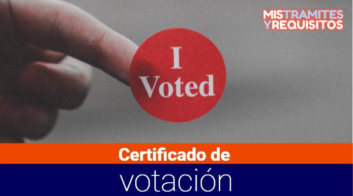 Como como sacar un duplicado del Certificado de votación