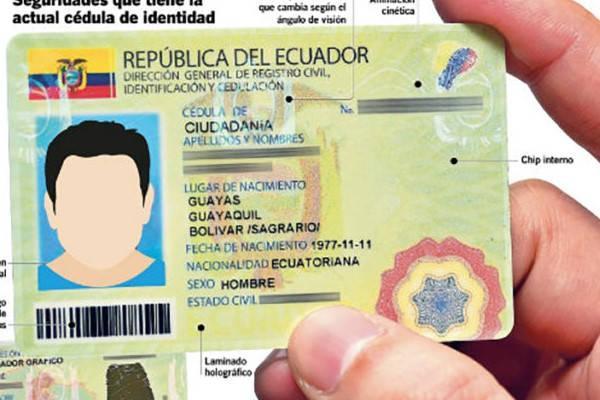 Certificado digital de datos de identidad cedula