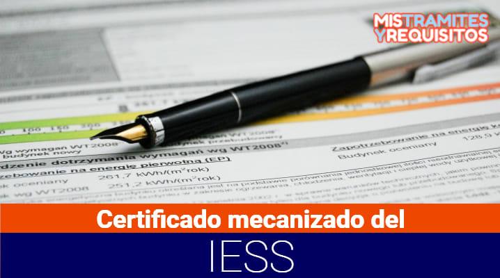 Conoce como sacar el Certificado mecanizado del IESS