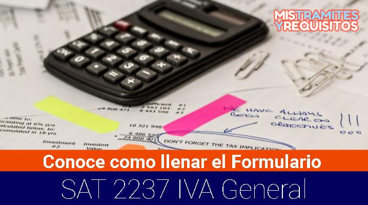 Formulario SAT 2237