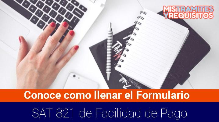 Formulario SAT 821