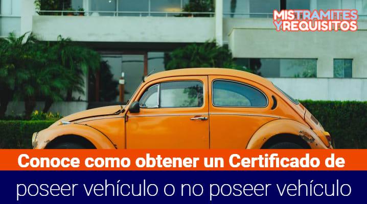 Certificado de poseer vehículo