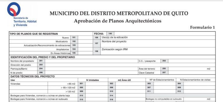 Formulario de aprobación de planos