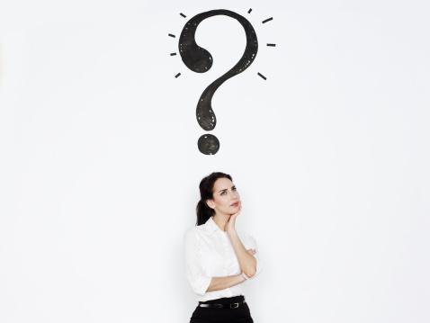 Mujer con preguntas