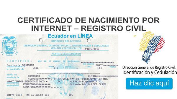 certificado de nacimiento ecuador
