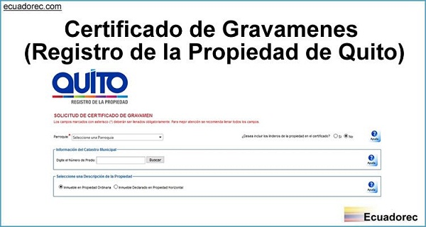 certificado gravamen
