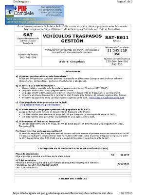 formulario 8611 sat