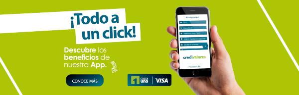 Banner de Credivalores App
