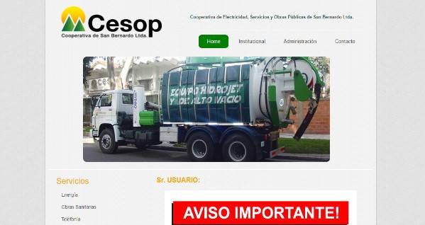 Estado de Cuenta Cesop página