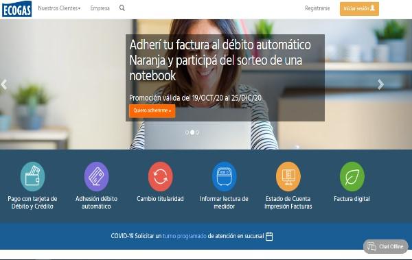 Estado de Cuenta Ecogas página