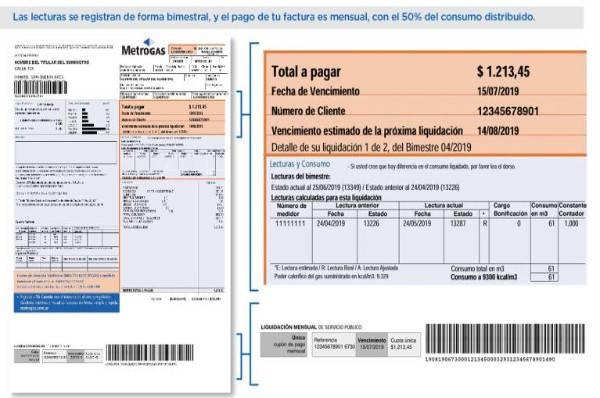 Estado de Cuenta Metrogas factura