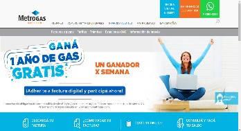 Estado de Cuenta Metrogas página